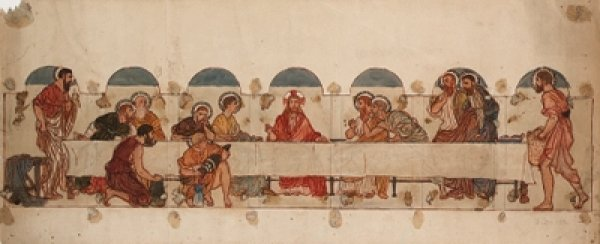 The Last Supper Wall painting by Albert Moore (1865-66)