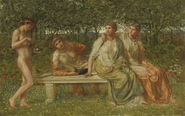 The Marble Seat by Albert Moore (1865)