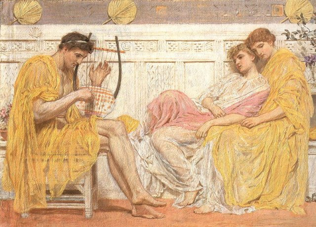 A Musician by Albert Moore (1865-6)