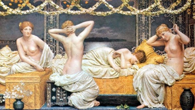 A Summer Night by Albert Moore (1864-90)