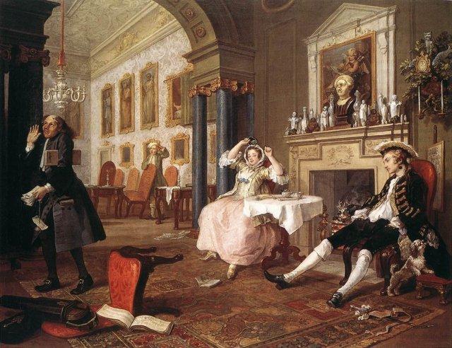 Marriage à la Mode by William Hogarth (c.1743)
