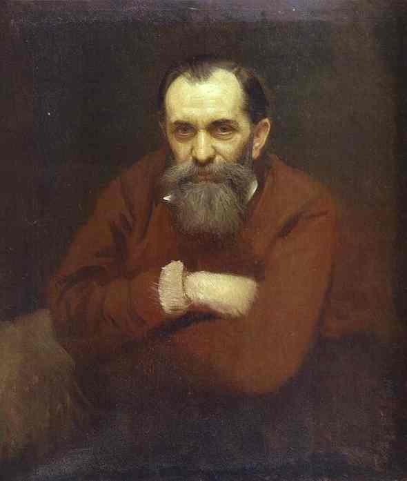 Portrait of Vasily Perov by Igor Kramskov (1881)