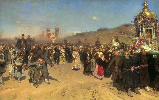 Religious Procession in Kursk Province by Ilya Repin (1883)