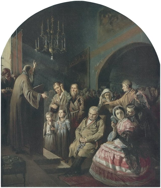 Sermon in a Village by Vasily Perov (1861)