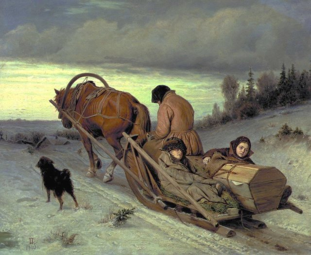 The Last Journey by Vasily Perov (1865)