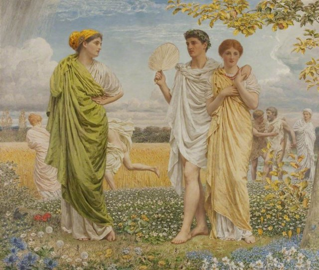 The Loves of the Winds and the Seasons by Albert Moore (1893)