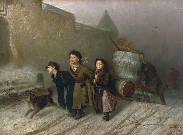 Troika by Vasily Perov (1866)