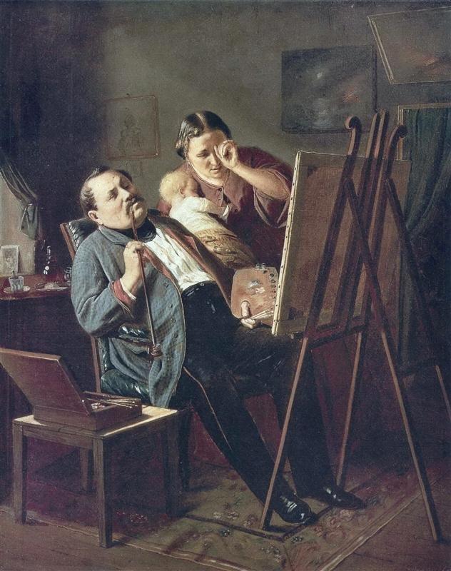 Amateur by Vasily Perov (1862)