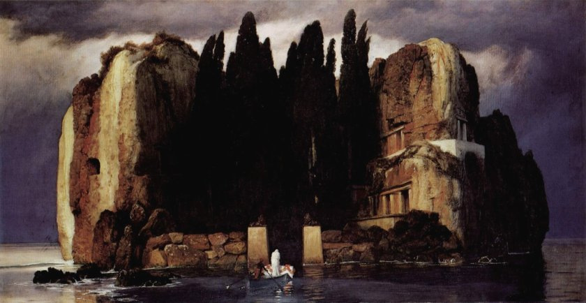 Die Toteninsel (Fifth version, Leipzig) by Arnold Bôcklin (1886)