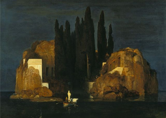 Isle of the Dead (Basel version) by Arnold Brocklin (1880)