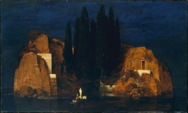 Isle of the Dead (Metropolitan Musum New York, Second version) by Arnold Böcklin (1880)