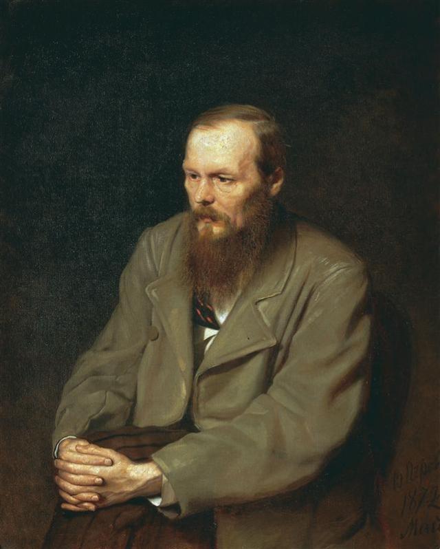 Portrait of the Author Feodor Dostoyevsky by Vasily Perov (1872)