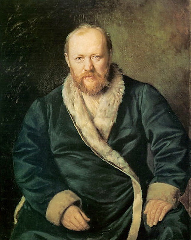 Portrait of the Playwright Alexander Ostrovsky by Vasily Perov (1871)
