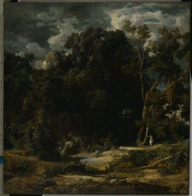 Roman Landscape (Römische Landschaft) by Arnold Böcklin (1852)