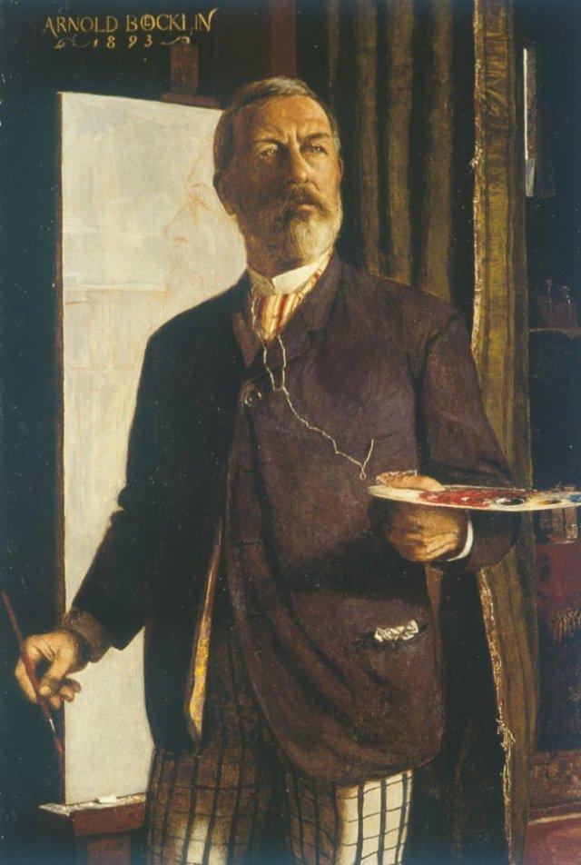 Self Portrait by Arnold Böcklin (1885)