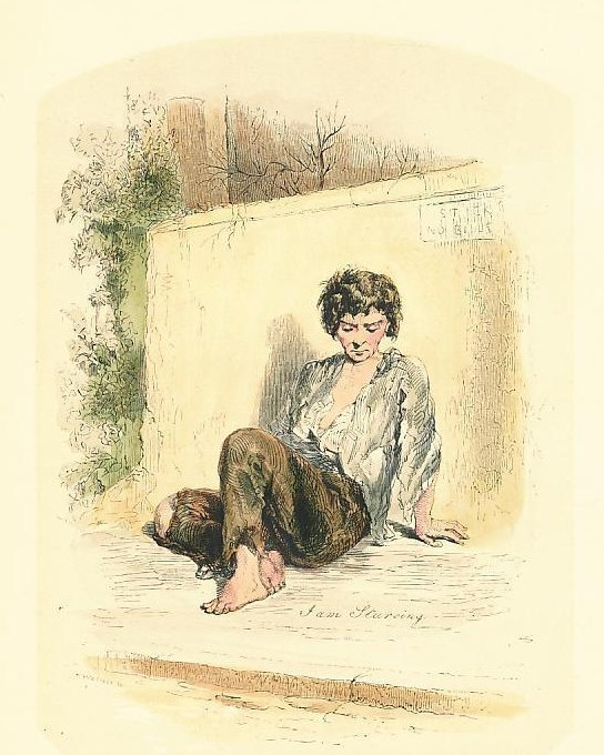 Street Beggar by Gavarni