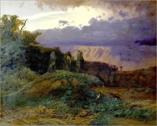 Das Hünengrab by Arnold Böcklin (1847)