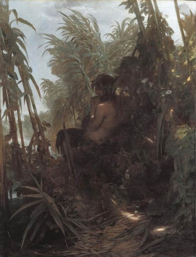 Pan in the Reeds by Arnold Böcklin (1858)