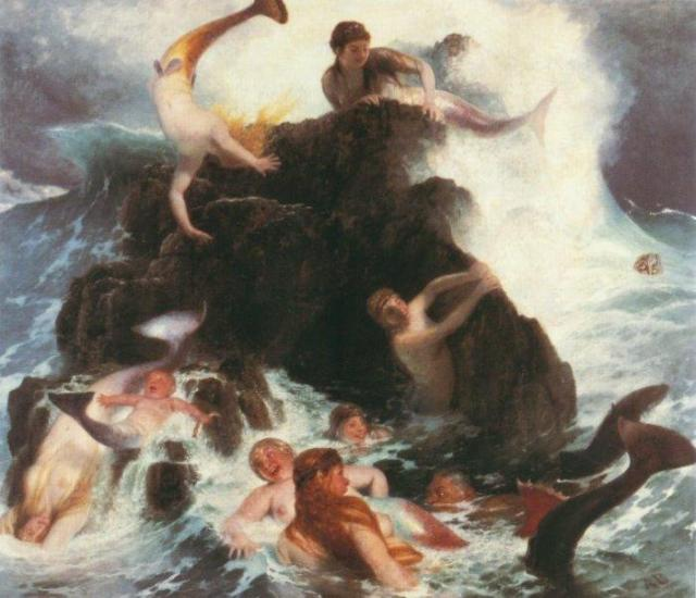 Naiads at Play by Arnold Böcklin (c.1862)