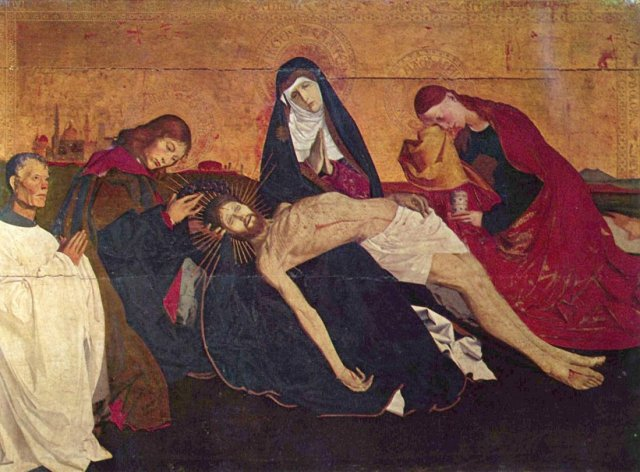 Pietà of Villeneuve-lès-Avignon by Enguerrand Quarton (c.1860)