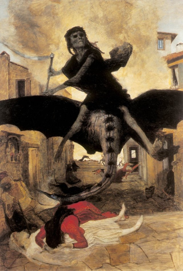 Plague by Arnold Böcklin (1898)