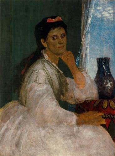 Portrait of Clara Böcklin by Arnold Böcklin (1872)