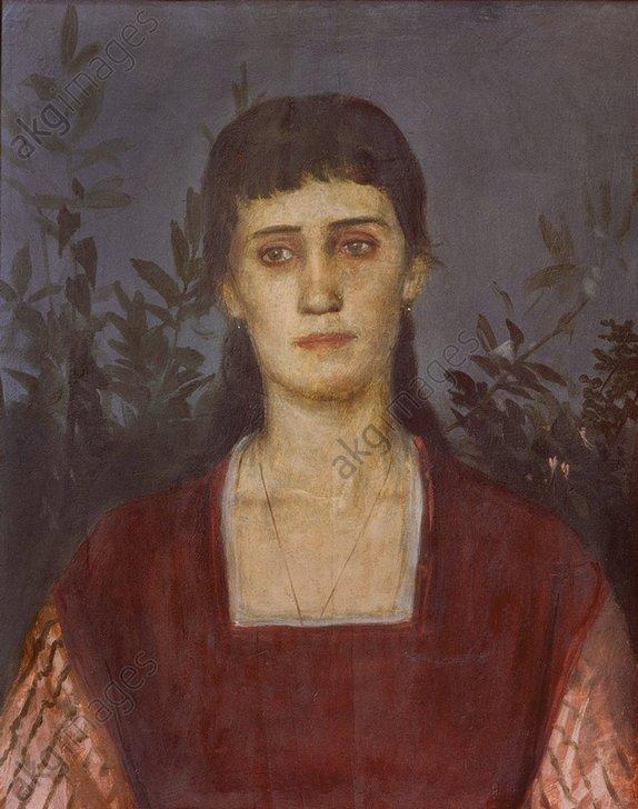 Portrait of Clara Böcklin by Arnold Böcklin (1876)
