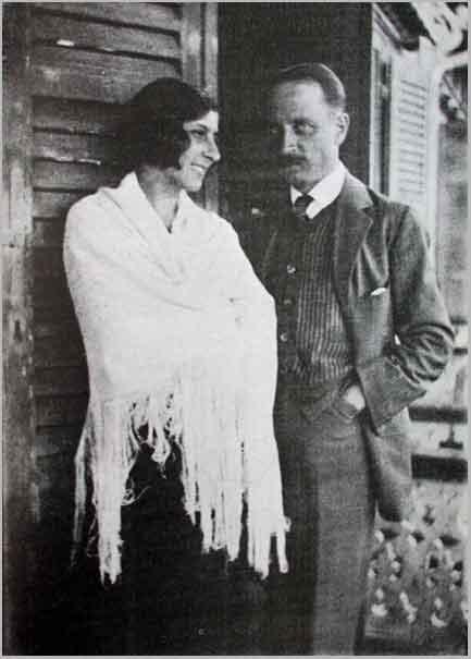 Rilke and Elisabeth Klossowska at Chateau Muzot (1923)