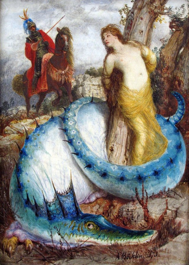Ruggiero and Angelica by Arnold Böcklin (c.1874)