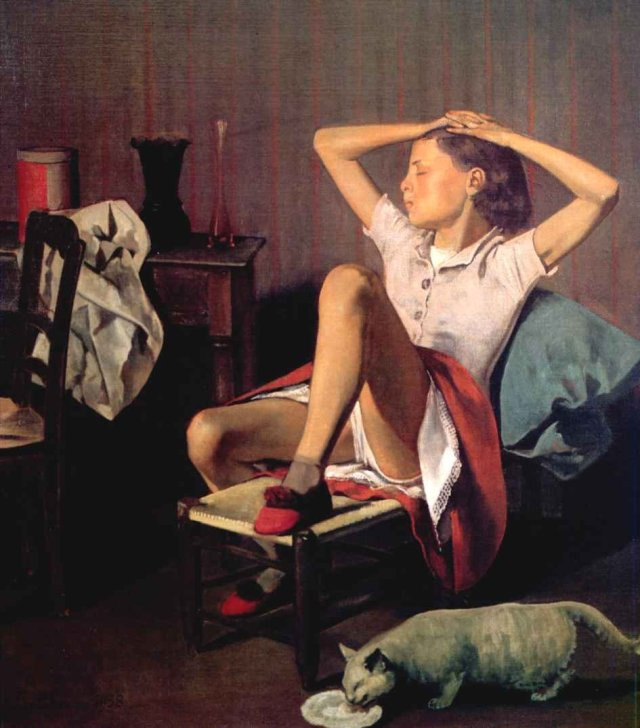 Thérèse Dreaming by Balthus (1938)