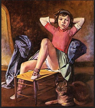 Thérèse with Cat by Balthus (1937)