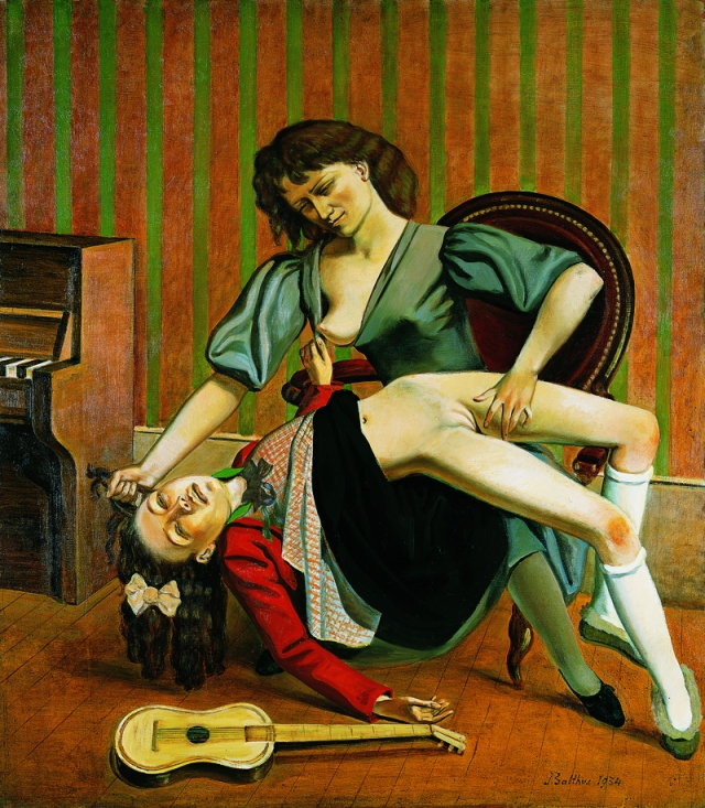The Guitar Lesson by Balthus (1934)