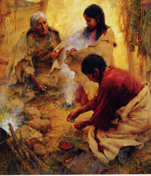 Passing into Womanhood by Howard Terpning