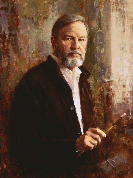 Self portrait by Howard Terpning