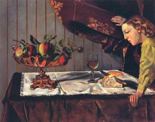 Still Life with a Figure by Balthus ( 1940)