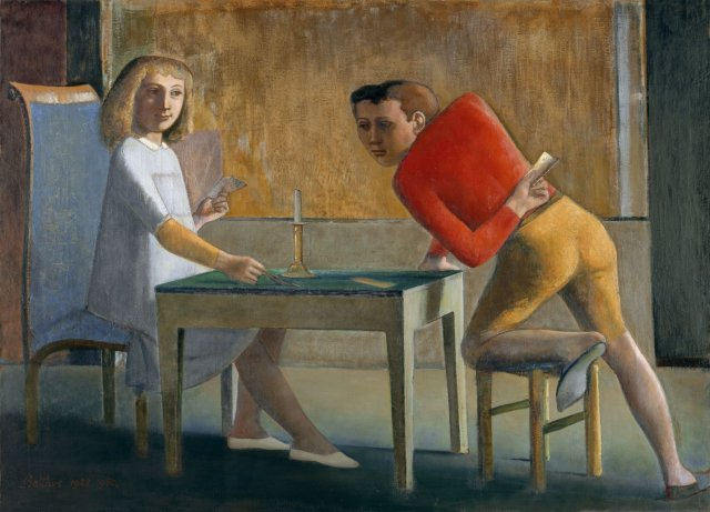 The Card Players by Balthus (1950)