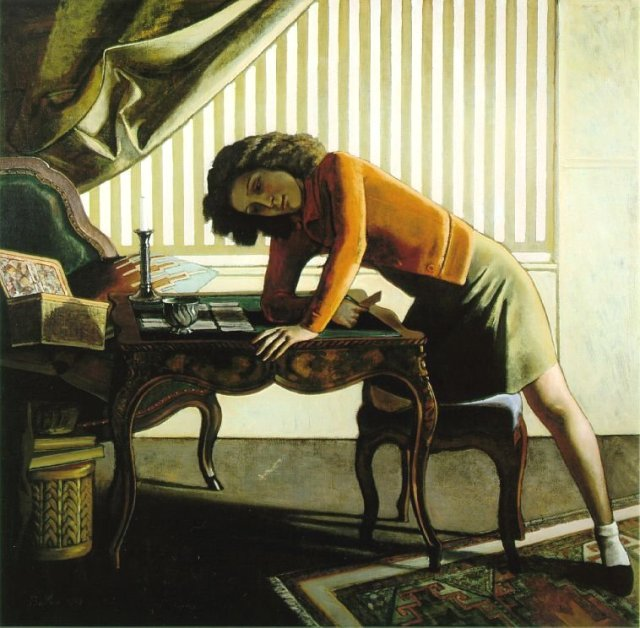 The Game of Patience by Balthus (1943)