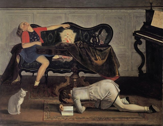 The Salon II by Balthus (1942)