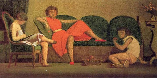 Three Sisters by Balthus (1954)