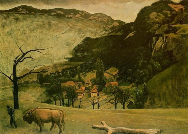 Vernatel Landscape with Oxen by Balthus (1942)