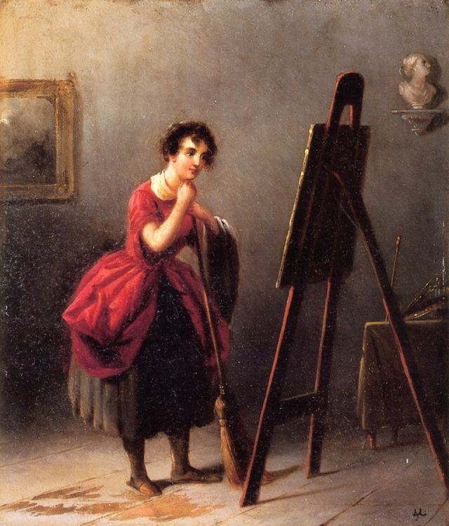 Artist's Studio - The Critic by Alfred Jacob Miller (1840)