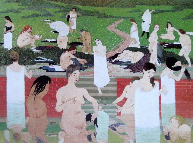 Bathers on a Summer Evening by Félix Vallotton (1892)