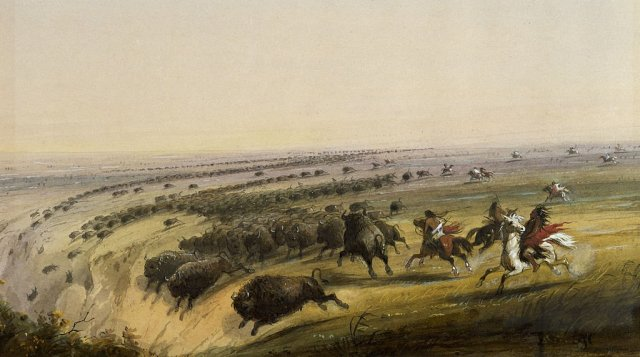 Hunting Buffalo by Alfred Jacob Miller (c.1860)