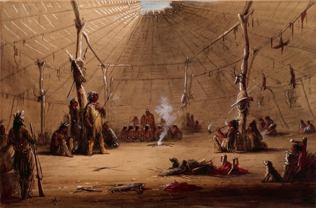 Indian Lodge by Alfred Jacob Miller (c.1860)