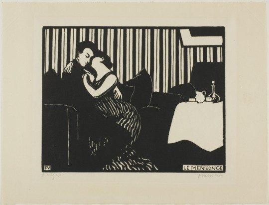 Le Mensonge (The Lie) by Félix Vallatton (1896)