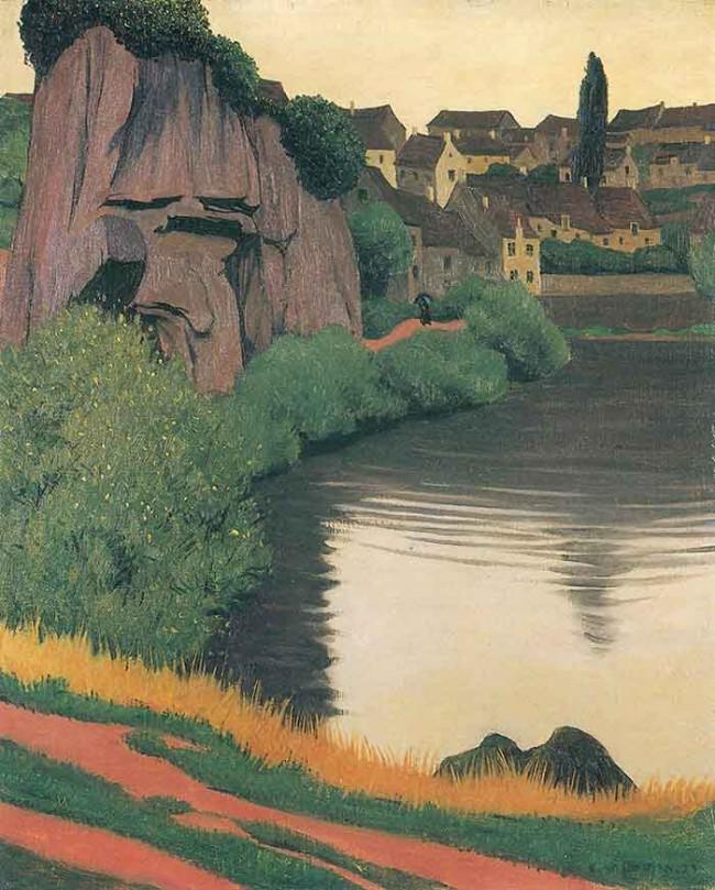 Landscape Semur by Felix Vallotton (1923)
