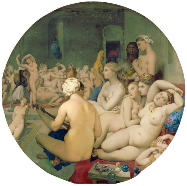 Le bain turc by Ingres (1863)