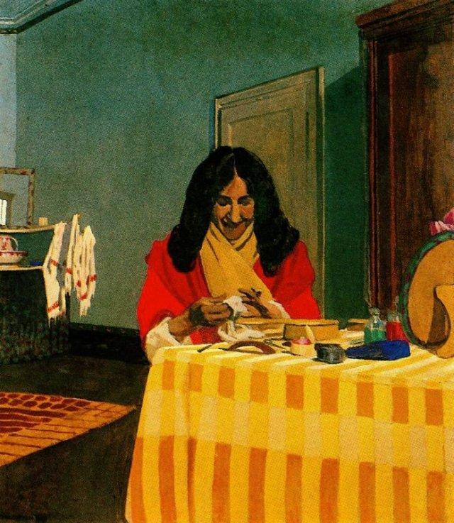 Mme. Felix Vallotton by Félix Vallatton (1899)
