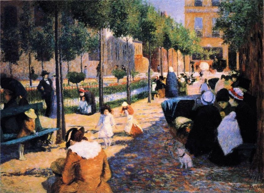 Place d'Anvers, Paris by Federico Zandomeneghi (1880)