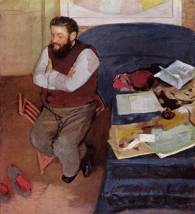 Portrait of Diego Martelli by Edgar Degas (1879)